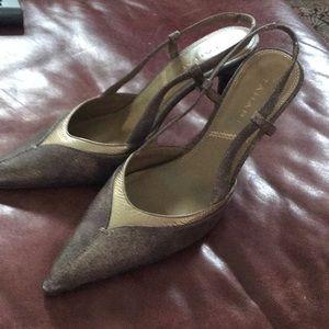 Tahiti size 8 bronze and gold shoe